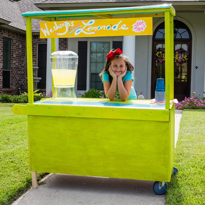 Wesleigh's lemonade sales
