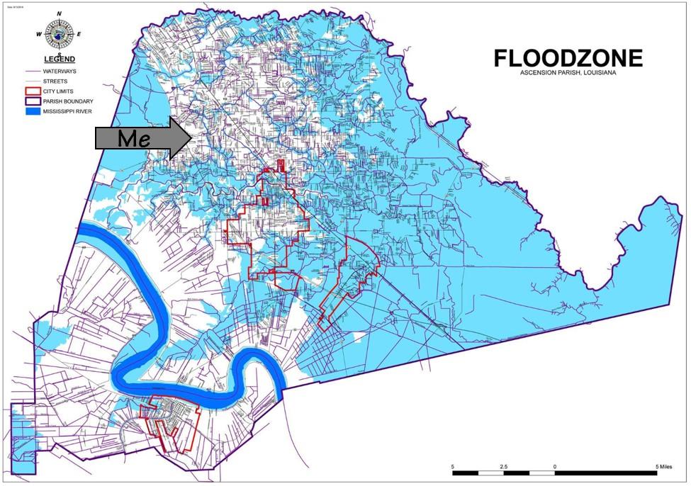 Ascension Parish Flood Zones 2